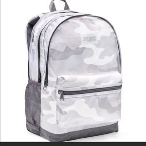 vs pink white camo backpack